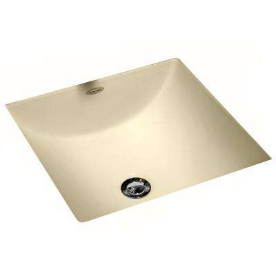 Studio Carre Square Undercounter Bathroom Sink with Less Faucet Deck in Bone