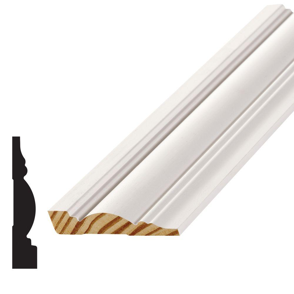 11/16 in. x 3-1/2 in. Wood Finger-Jointed Pine Casing Moulding