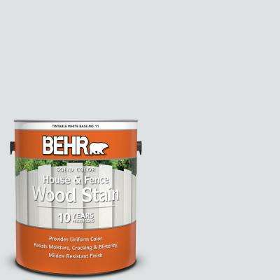 1 gal. #W-F-520 Ash White Solid Color House and Fence Exterior Wood Stain