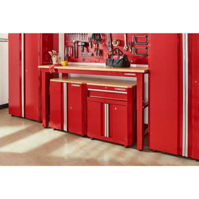 6 ft. Adjustable Height Solid Wood Top Workbench in Red