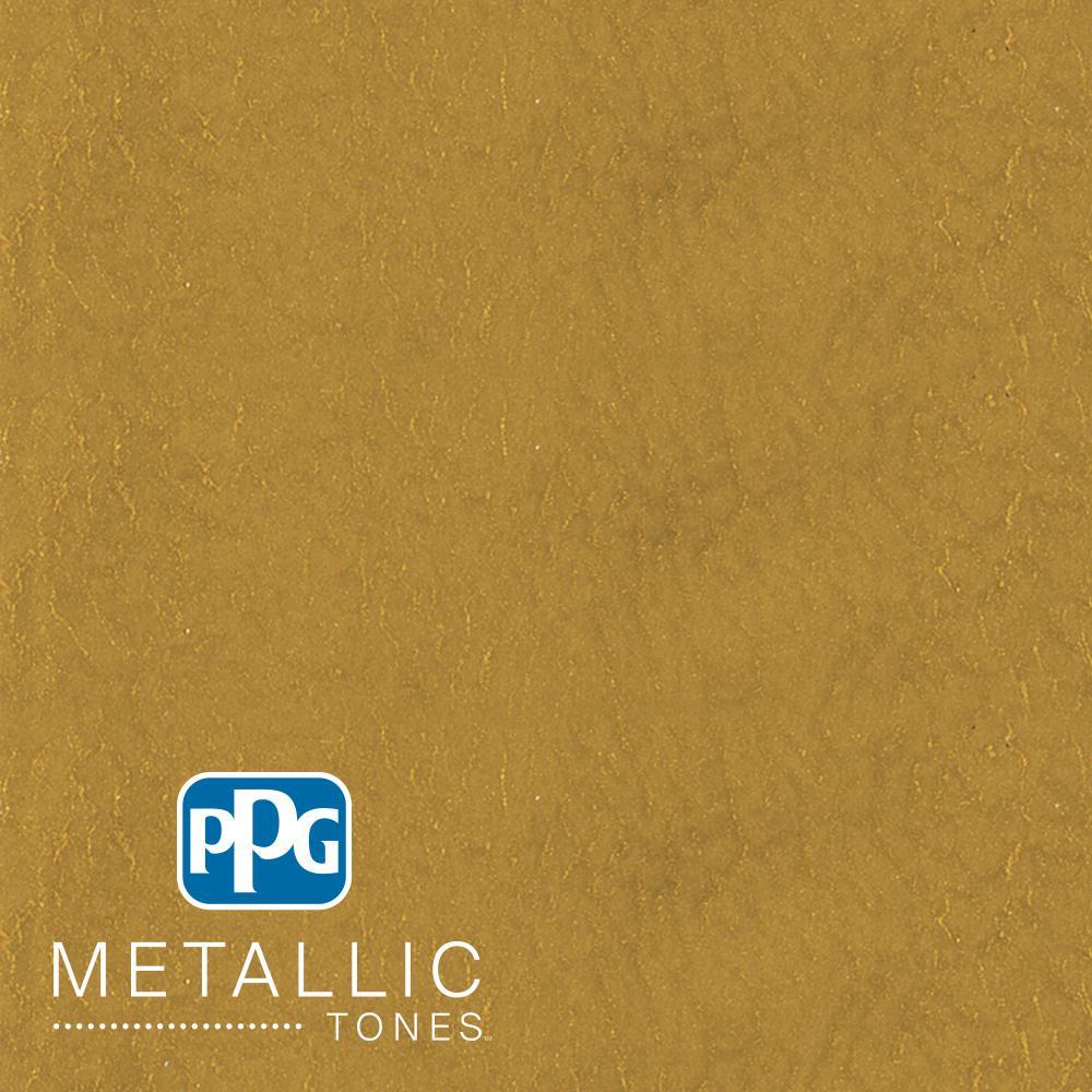 PPG METALLIC TONES 1 qt. MTL137 Gilded Gold Metallic Interior ... de8e7f104