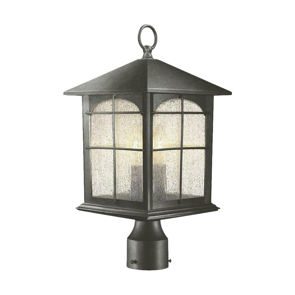 Brimfield 3-Light Outdoor Aged Iron Post Light
