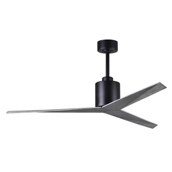 Eliza 56 in. Indoor/Outdoor Matte Black Ceiling Fan with Barn Wood Blades and Hand Held Remote/Wall Control