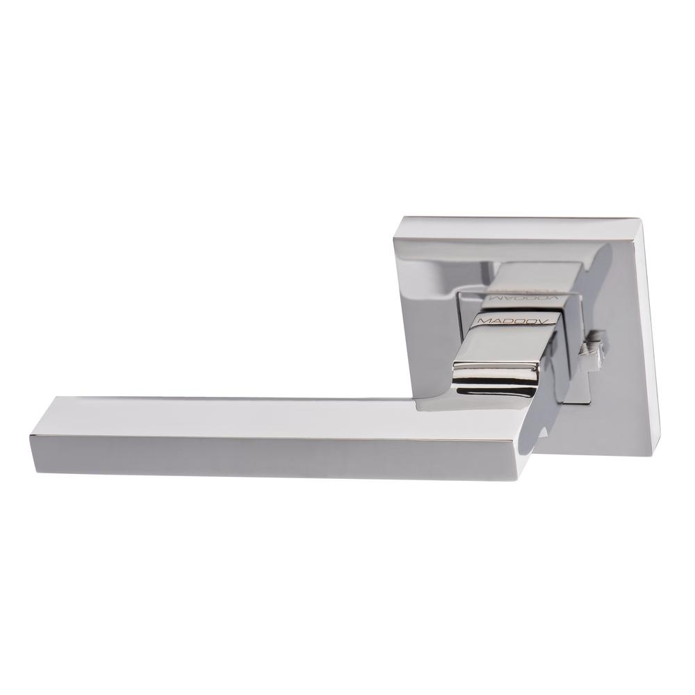 null Geneva Contemporary Polished Chrome Bed/Bath Privacy Lever Handle Set with Latch for a  sc 1 st  The Home Depot & Geneva Contemporary Polished Chrome Bed/Bath Privacy Lever Handle ... pezcame.com