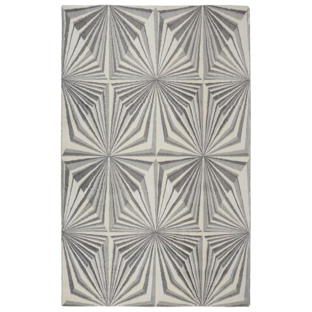 Illusion Modern Geometric Grey 7 ft. 6 in. x 9 ft. 6 in. Area Rug