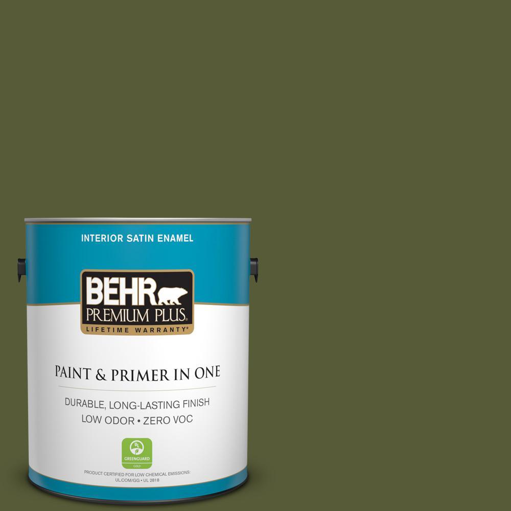 1 gal. #PPU9-25 Eastern Bamboo Zero VOC Satin Enamel Interior Paint