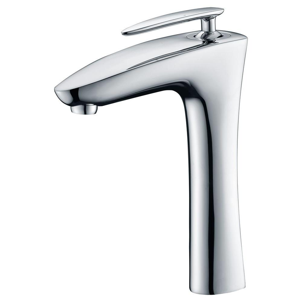 Crown Single Hole Single-Handle Vessel Bathroom Faucet in Polished Chrome