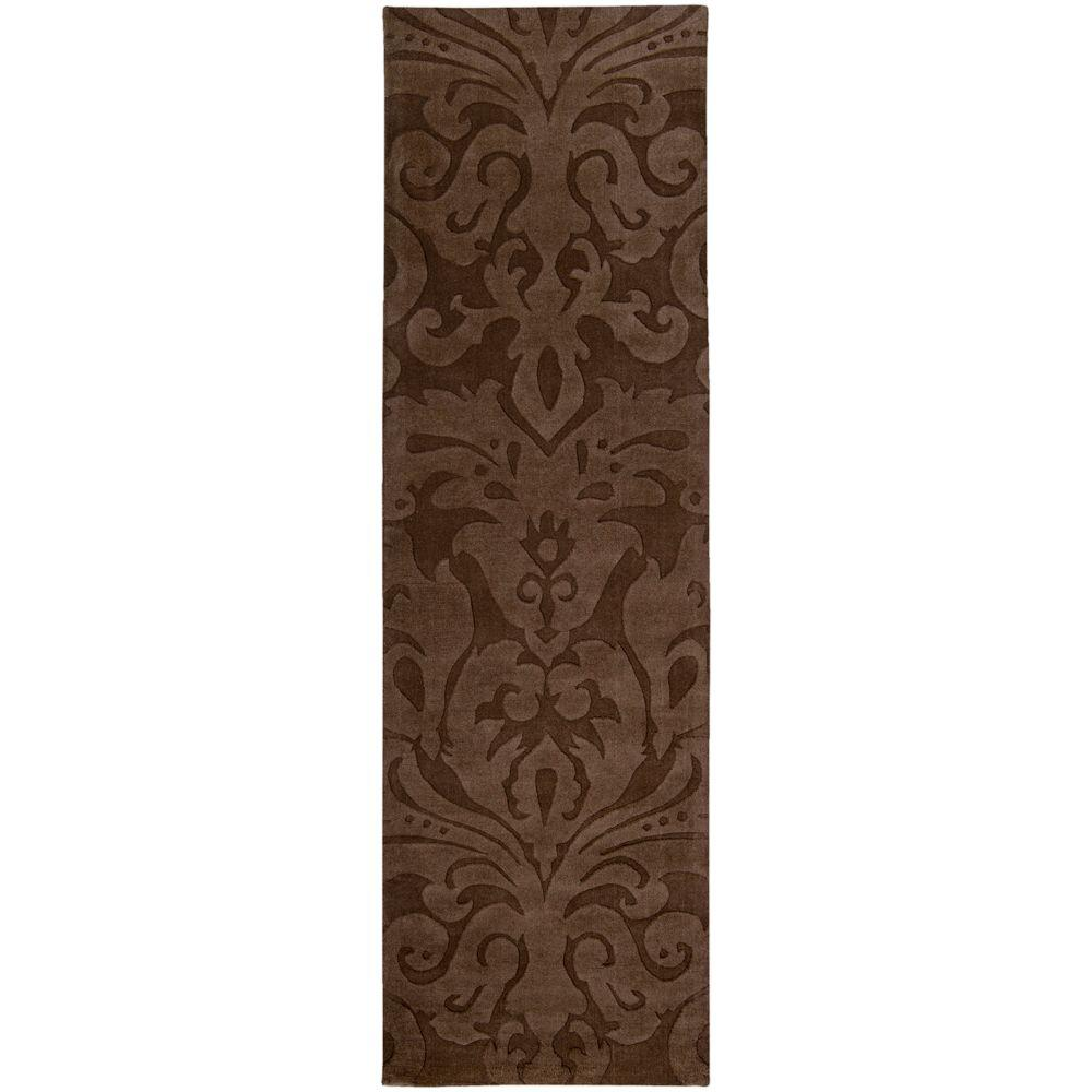 Surya Candice Olson Chocolate 2 ft. 6 in. x 8 ft. Rug Runner