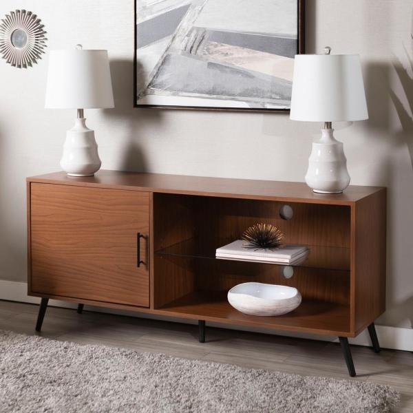 52 in. Acorn TV Stand with Black Legs HD52NORGSPC