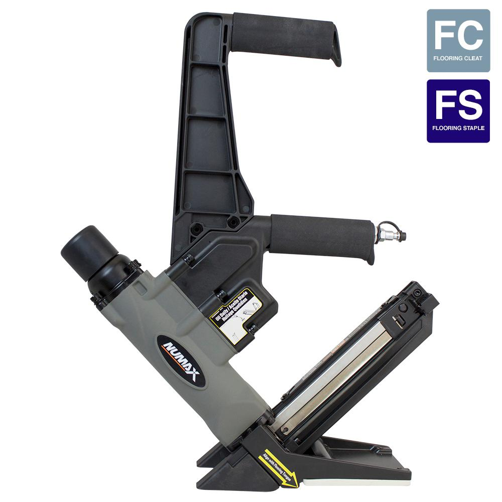 Pneumatic 16-Gauge 2-in-1 Dual Handle Flooring Nailer and...