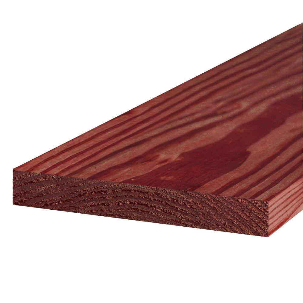 2 in. x 12 in. x 16 ft. #1 Redwood-Tone Ground