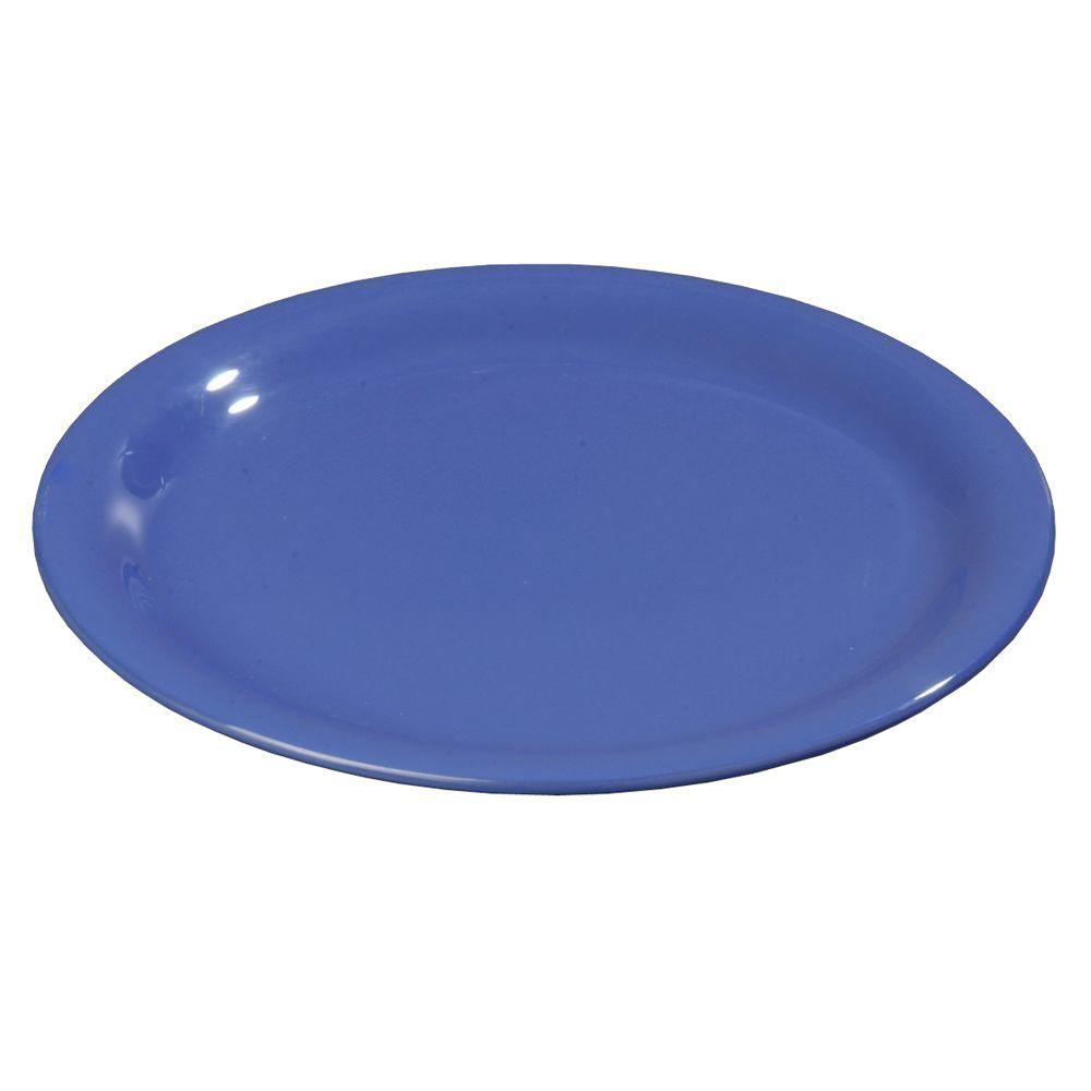 9 in. Diameter Melamine Narrow Rim Dinner Plate in Ocean Blue (Case of 24)