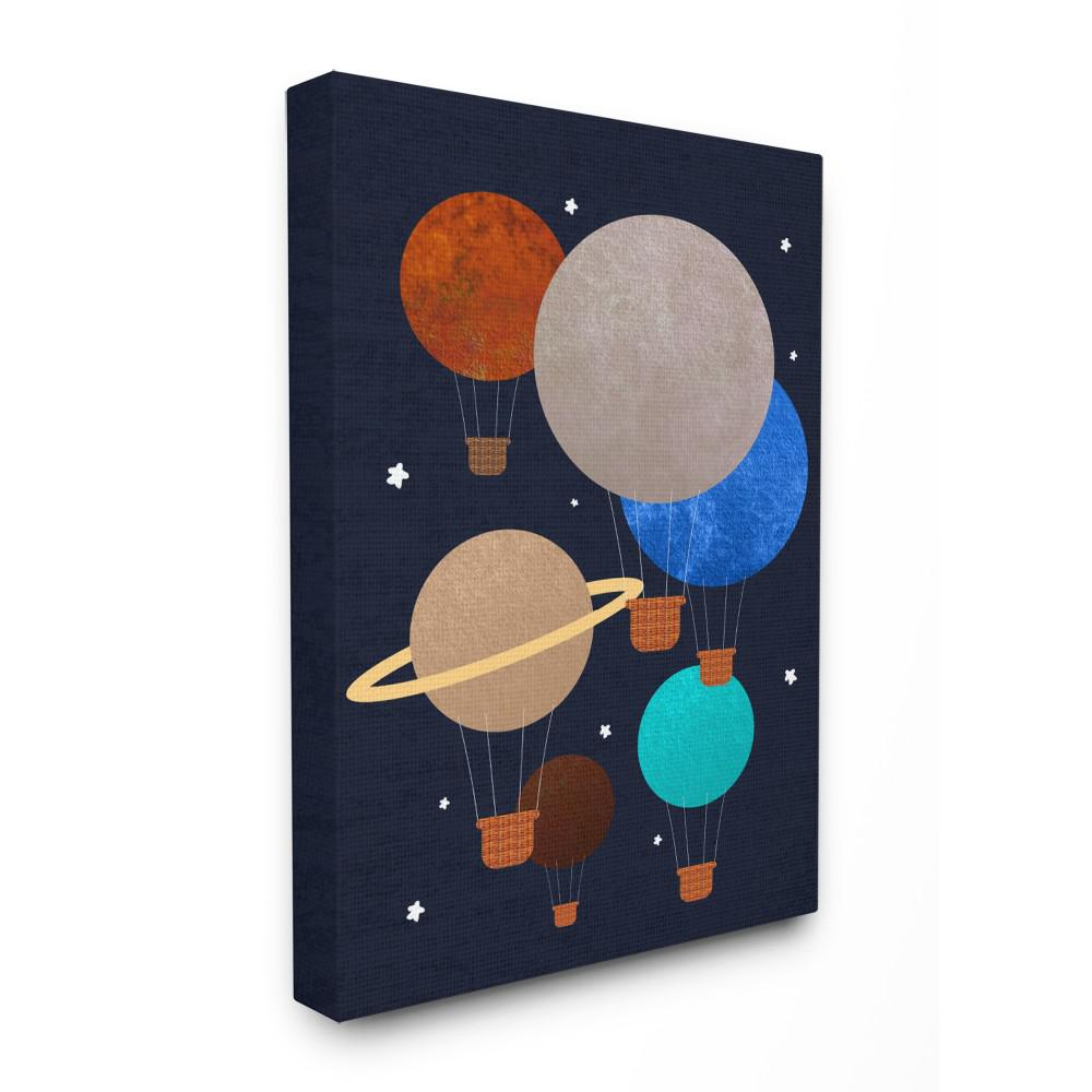 "24 in. x 30 in. ""Hot Air Balloon Planets"" by Daphne"