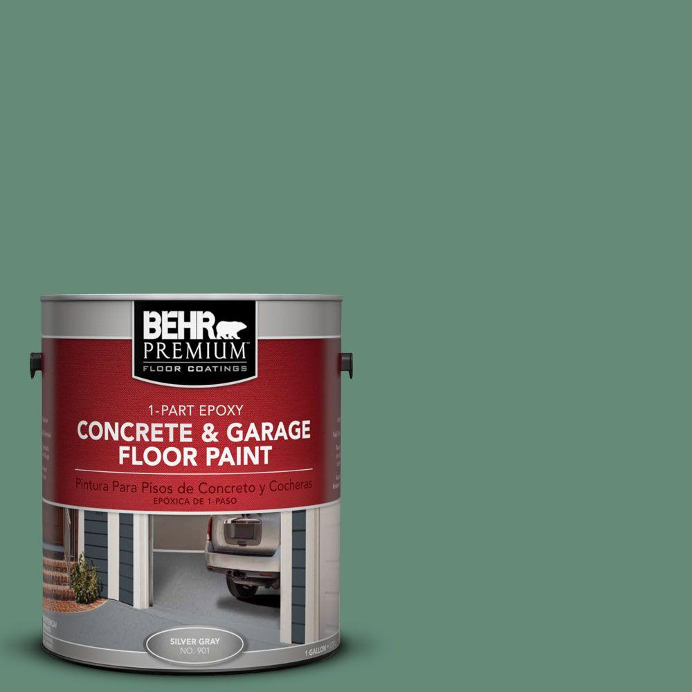 BEHR Premium 1 gal. #PFC-44 Green Adirondack 1-Part Epoxy Concrete and Garage Floor Paint