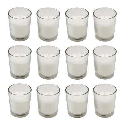 Candles (15 Hours) in Clear Glass Votives 12-Count