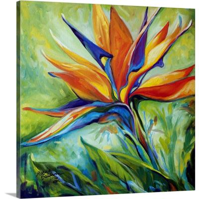 """Blessed Day Bird Of Paradise"" by Marcia Baldwin Canvas Wall Art"