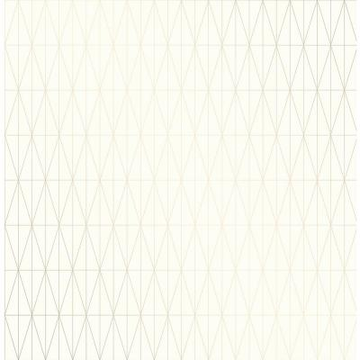 56.4 sq. ft. Tofta Off-white Geometric Wallpaper