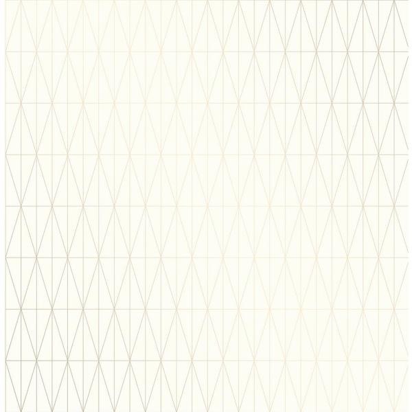 A-Street 56.4 sq. ft. Tofta Off-white Geometric Wallpaper
