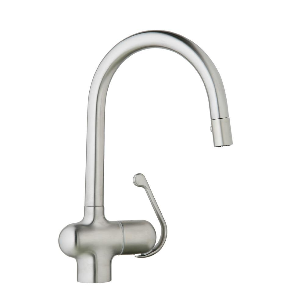 GROHE LadyLux Pro Single Handle Pull Down Sprayer Kitchen Faucet In  Stainless Steel