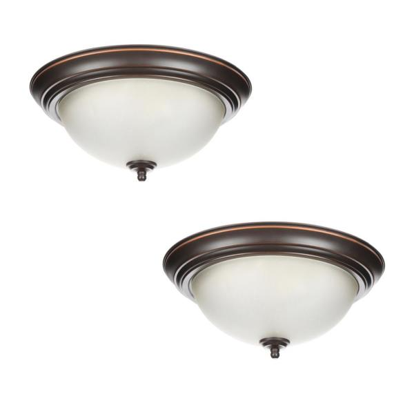 Light Oil Rubbed Bronze Flush Mount