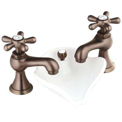 6100 Series 8 in. Widespread 2-Handle Bathroom Faucet in Oil-Rubbed Bronze with Pop-Up Drain
