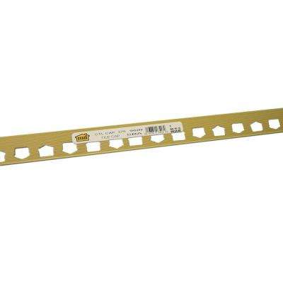 Satin Brass 27/64 in. x 8 ft. Aluminum Cap Tile Edging Trim