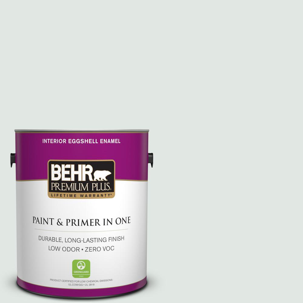 BEHR Premium Plus 1-gal. #PPL-56 Winter Veil Zero VOC Eggshell Enamel Interior Paint
