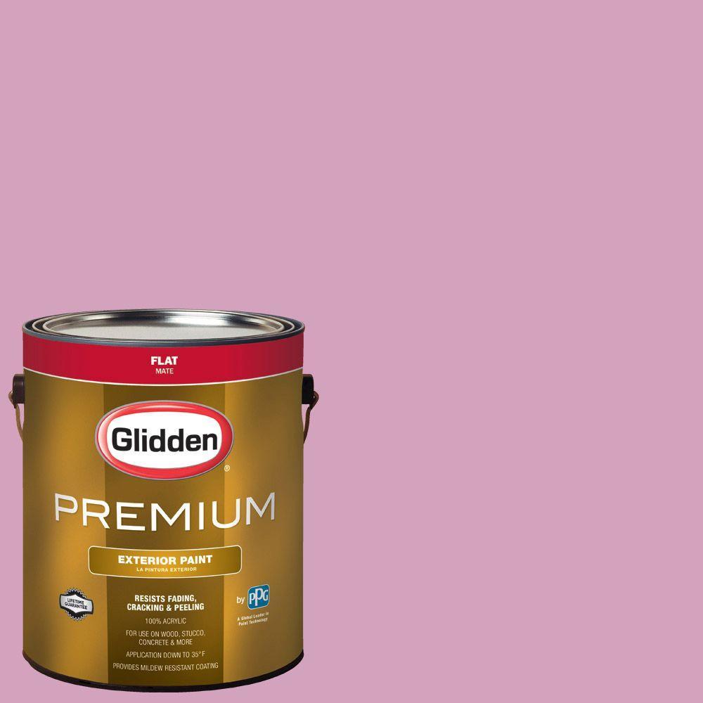 Glidden Premium 1-gal. #HDGR06 Pink Gazebo Flat Latex Exterior Paint ...
