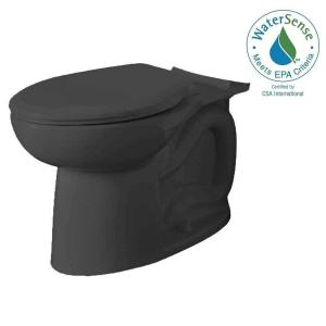 American Standard Cadet 3 FloWise Tall Height Elongated Toilet Bowl Only in Black by American Standard