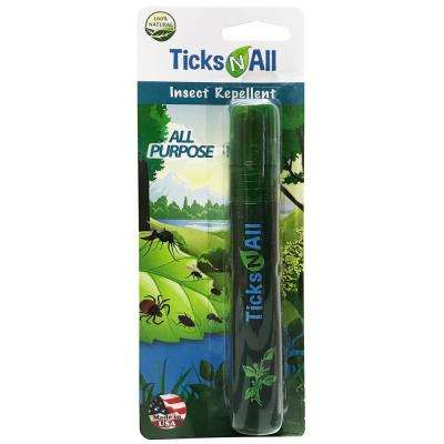Ticks-N-All 0.6 oz. All Natural Ready-To-Use All Purpose Insect Repellent Mini Spray