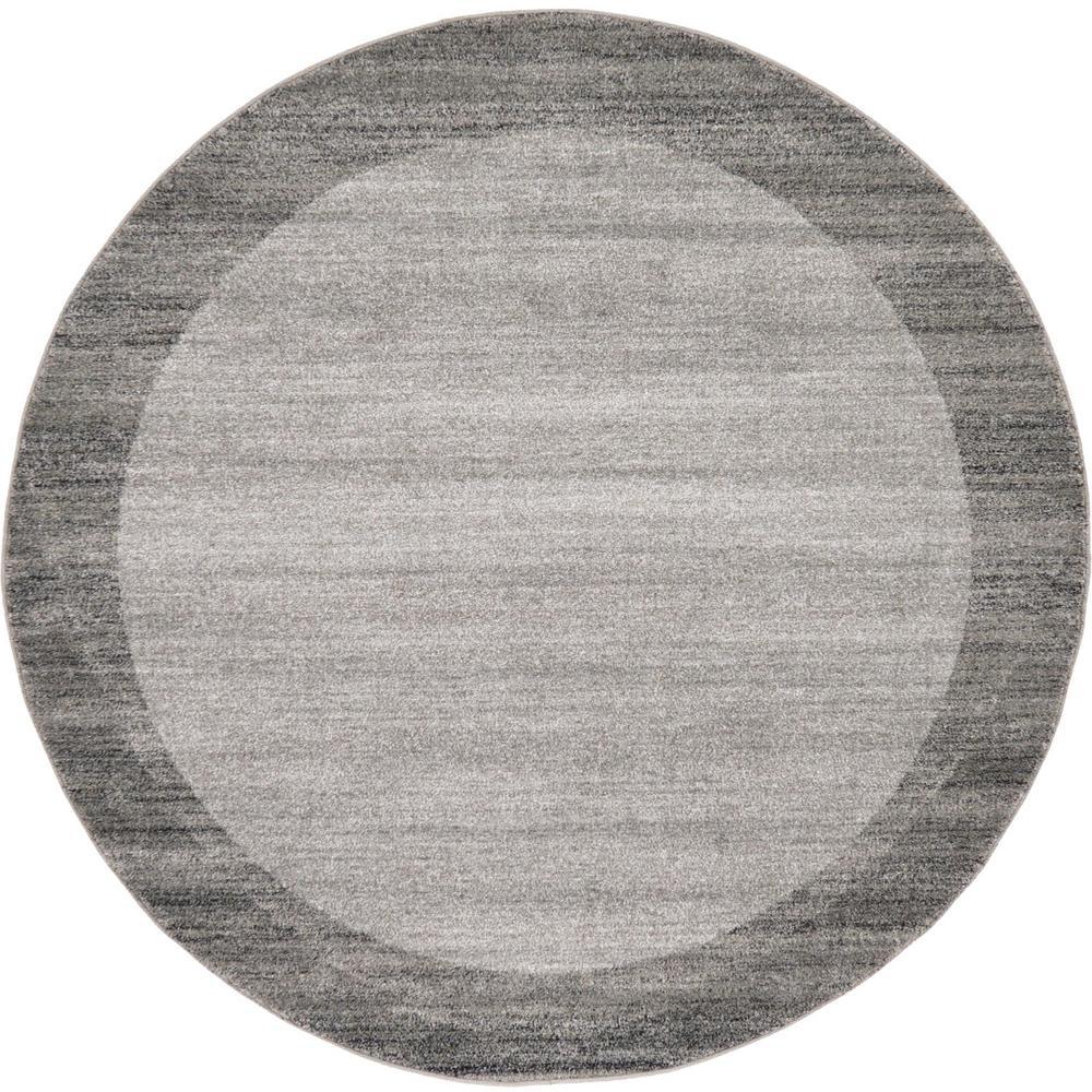 Del Mar Abigail Light Gray 6' 0 x 6' 0 Round Rug