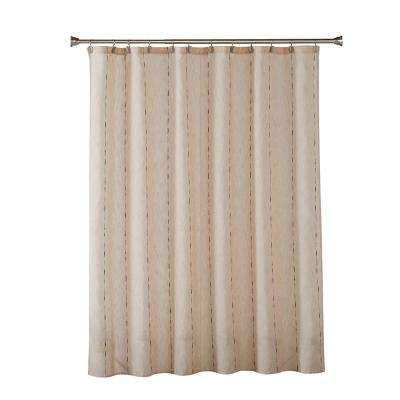 Linen Space Dye 72 in. Natural Shower Curtain