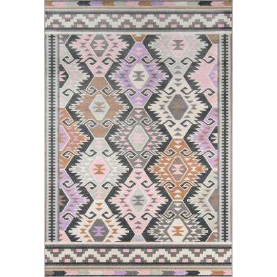 Boho Holiday Multi 3 ft. 3 in. x 5 ft. Indoor/Outdoor Area Rug