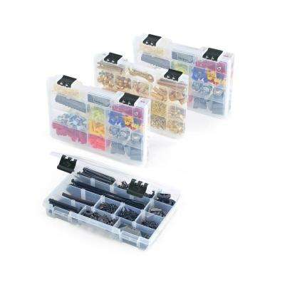 11 in. 17-Compartment Parts Bin Organizer (4-Pack)