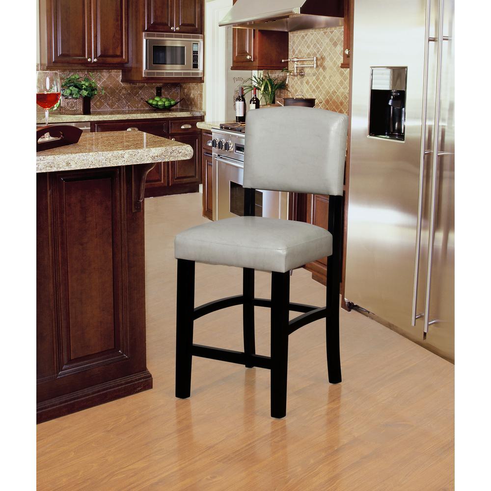 Groovy Linon Home Decor Monaco 24 In Gray And Black Counter Stool Machost Co Dining Chair Design Ideas Machostcouk