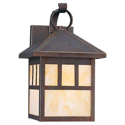 Prairie Statement 1-Light Outdoor Antique Bronze Wall Mount Fixture