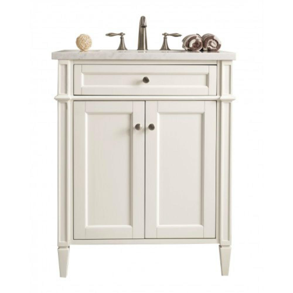 James Martin Signature Vanities New Brittany 30 in. W Single Bath Vanity in Cottage White