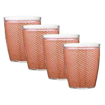 Fishnet 14 oz. Orchid Insulated Drinkware (Set of 4)