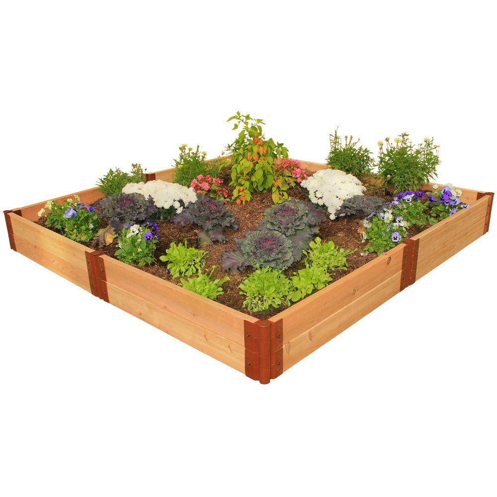 Frame It All Two Inch Series 8 ft. x 8 ft. x 12 in. Cedar Raised Garden Bed Kit