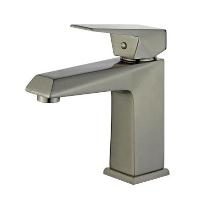 Valencia Single Hole Single-Handle Bathroom Faucet with Overflow Drain in Brushed Nickel