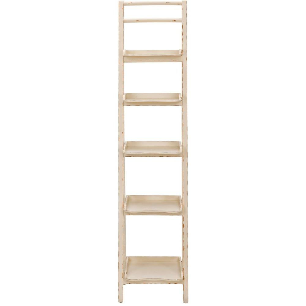Safavieh Asher Distressed Ivory Ladder Bookcase Amh6537a