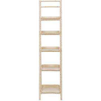 Asher Distressed Ivory Ladder Bookcase