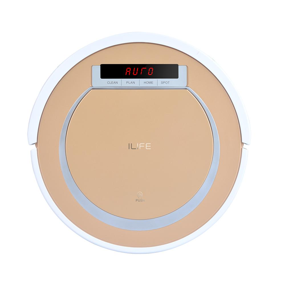 ILIFE V55 Hybrid Vacuuming and Mopping Robot Vacuum Cleaner The V55 is equipped with vacuuming and mopping cleaning modes. Powerful suction allows easy dirt and dust pickup. Equipped with a water tank and a mop cloth, V55 can efficiently clean dirt on any hard floors.