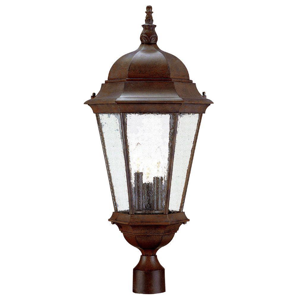 Acclaim Lighting Richmond 3-Light Matte Black Outdoor Post-Mount Light Fixture
