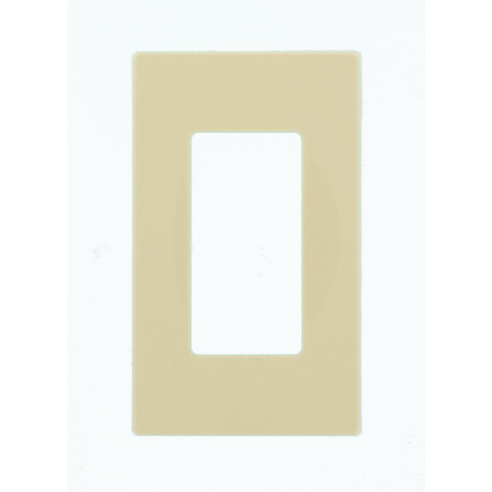 Leviton Decora 1 Gang Screwless Wall Plate Ivory 80301 Si