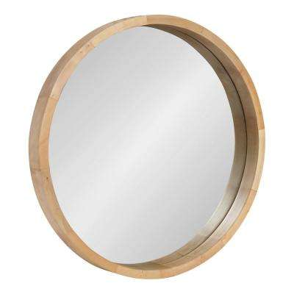 Hutton Round Natural Wall Mirror