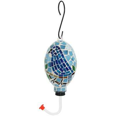 6 in. Mosaic Glass Outdoor Hanging Hummingbird Feeder