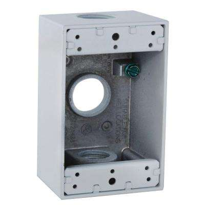 1 Gang Weatherproof Box with Three 3/4 in. Outlets