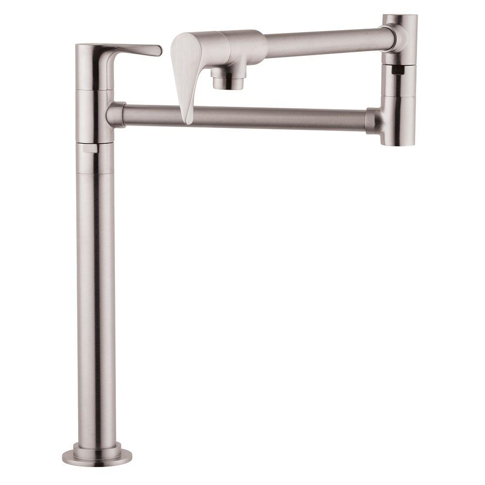 Hansgrohe Axor Citterio Deck Mounted Potfiller in Steel Optik