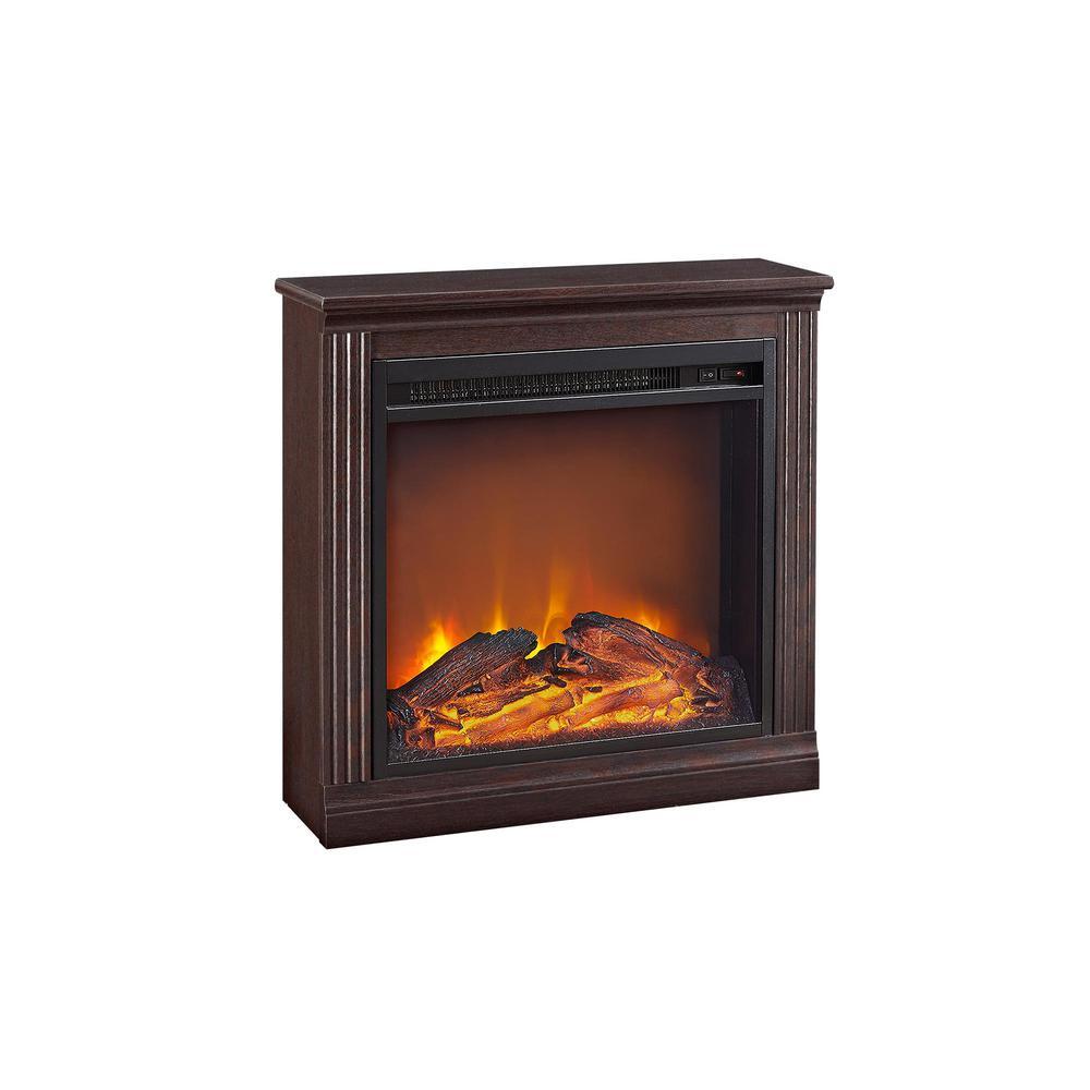 Tudor Terrace 22.81 in. Simple Fireplace in Cherry